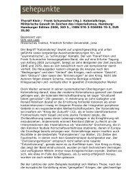 Thoralf Klein / Frank Schumacher (Hg ... - Sehepunkte