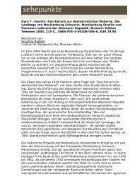 Kyra T. Inachin: Durchbruch zur demokratischen ... - Sehepunkte