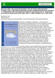 Nils Jörn (Hg.): Servorum Dei Gaudium. Das ist Treuer ... - Sehepunkte