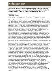Whitney R. D. Jones: Thomas Rainborowe (c. 1610 ... - Sehepunkte