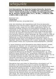 Cord Eberspächer: Die deutsche Yangtse-Patrouille ... - Sehepunkte