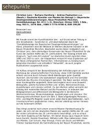 Christian Lenz / Barbara Hardtwig / Andrea ... - Sehepunkte