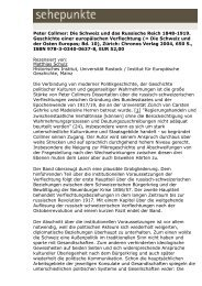 Peter Collmer: Die Schweiz und das Russische Reich ... - Sehepunkte