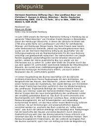 Hermann Reemtsma Stiftung (Hg.): Das Landhaus ... - Sehepunkte