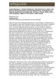Julian Kliemann / Michael Rohlmann: Wandmalerei in ... - Sehepunkte