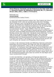 Ulrich Pfisterer: Donatello und die Entdeckung der ... - Sehepunkte