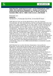 Wolf Nitschke: Adolf Heinrich Graf v. Arnim-Boitzenburg - Sehepunkte