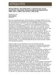 Michael Kißener: Das Dritte Reich (= Kontroversen um ... - Sehepunkte