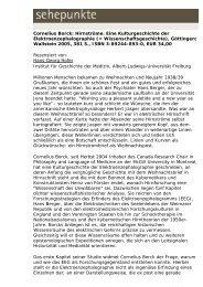 Cornelius Borck: Hirnströme. Eine Kulturgeschichte ... - Sehepunkte