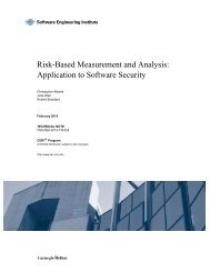 Risk-Based Measurement and Analysis - Software Engineering ...
