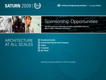 Sponsorship Opportunities - Software Engineering Institute ...