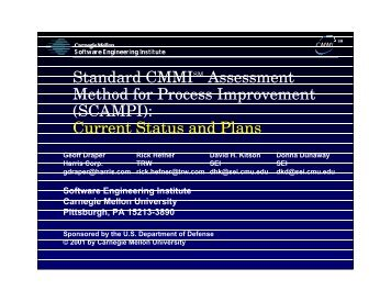 SCAMPI - Software Engineering Institute - Carnegie Mellon University