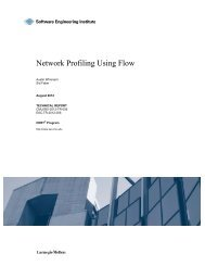 Network Profiling Using Flow - Software Engineering Institute ...
