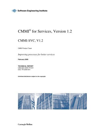 CMMI® for Services, Version 1.2 CMMI-SVC, V1.2 - Software ...