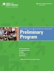 Preliminary Program - Software Engineering Institute - Carnegie ...