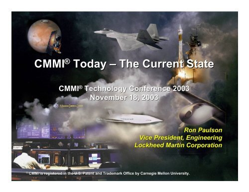 CMMI Today - The Current State - Software Engineering Institute ...