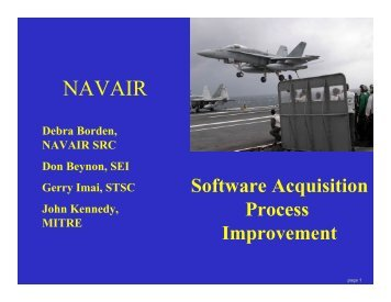 Software Acquisition Process Improvement - Software Engineering ...