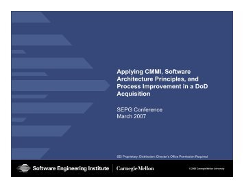 Applying CMMI, Software Architecture Principles, and Process ...