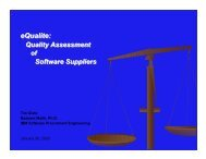 eQualite: Quality Assessment of Software Suppliers
