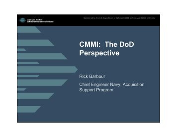 CMMI: The DoD Perspective - Software Engineering Institute ...