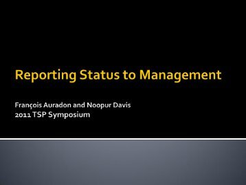 Reporting Project Status to Management