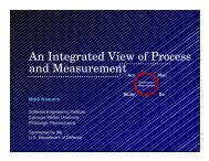 An Integrated View of Process Measurement - Software Engineering ...