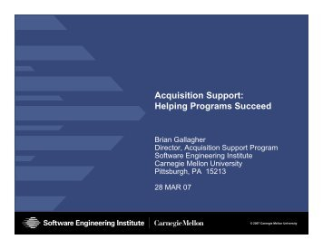 Helping Program Succeed - Software Engineering Institute ...