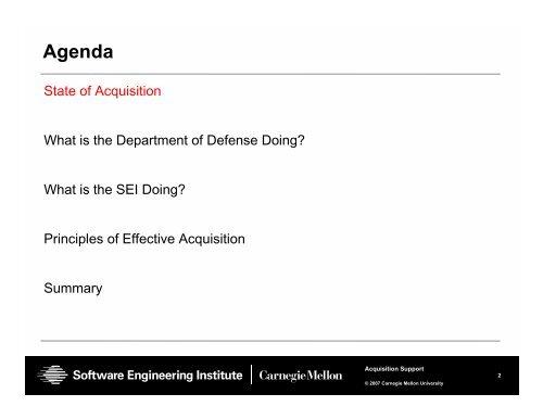 Helping Program Succeed - Software Engineering Institute ...