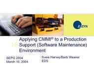 Applying CMMI to a Production Support - Software Engineering ...