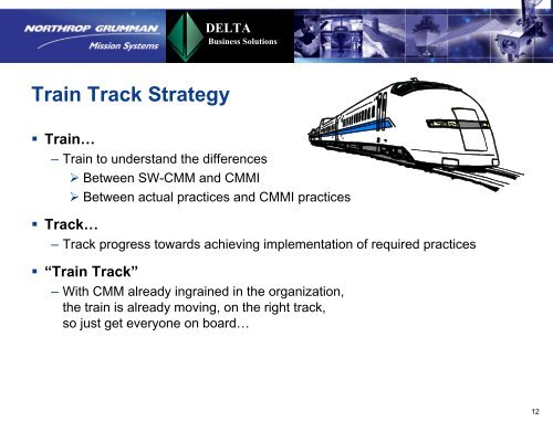 Transition from SW-CMM to CMMI - Software Engineering Institute ...
