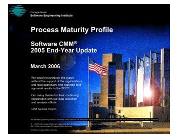 Process Maturity Profile - Software CMM 2005 Year-End Update