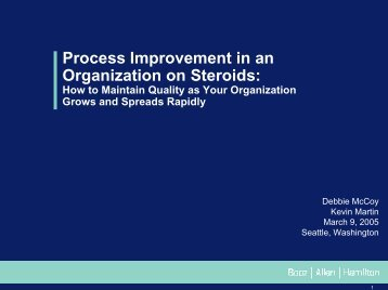 Process Improvement in an Organization on Steroids: How to ...