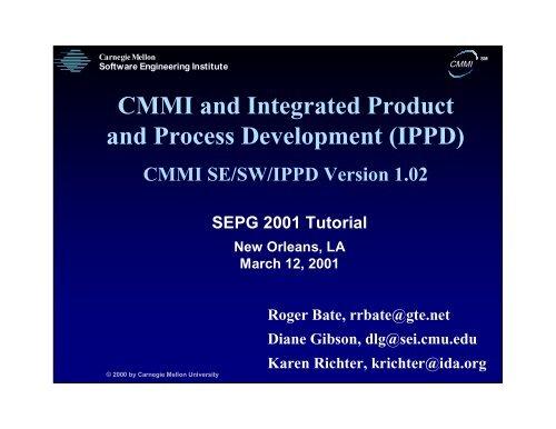 IPPD - Software Engineering Institute - Carnegie Mellon University