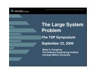 The Large System Problem - Software Engineering Institute ...