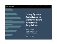 Using System Archetypes to Identify Failure Patterns in Acquisition