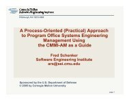 A Process-Oriented (Practical) - Software Engineering Institute ...