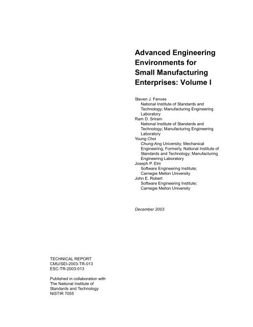 Advanced Engineering Environments for Small ... - CiteSeerX