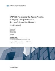 SMART: Analyzing the Reuse Potential of Legacy Components in a ...