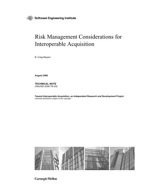 Risk Management Considerations for Interoperable Acquisition