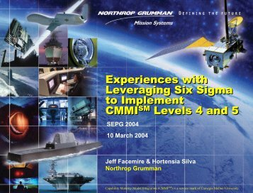 Experiences with Leveraging Six Sigma to Implement CMMI Levels ...