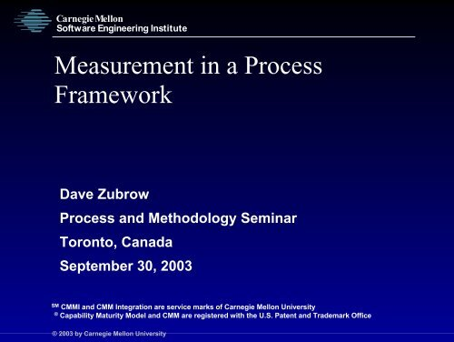 Download Presentation - Software Engineering Institute - Carnegie ...