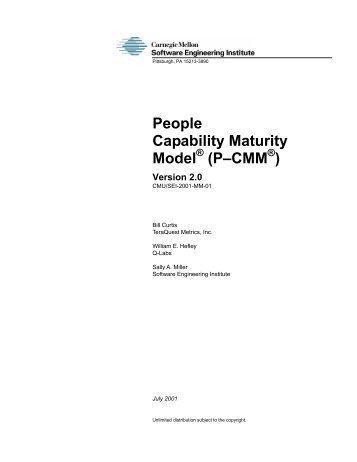 People Capability Maturity Model - Software Engineering Institute ...