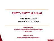 TSP/PSP at Intuit - Software Engineering Institute