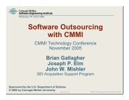 Software Outsourcing with CMMI - Software Engineering Institute ...
