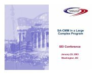SA-CMM in a Large Complex Program - Software Engineering Institute