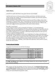 Elternbrief, Oktober 2011 - Emanuel von Seidl Grundschule