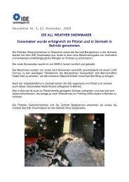 News IDE Snowmaker - Seilbahn.net