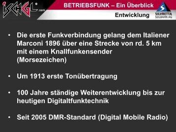 Betriebsfunk - Ein Überblick; DI Georg Zangerl - Seilbahn.net