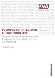 TOURISMUSSTRATEGISCHE AUSRICHTUNG 2015 - Seilbahn.net