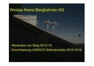 Weisse Arena Bergbahnen AG - Seilbahn.net
